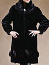 Long Sleeve Pillow Faux Fur Party/Casual Coat
