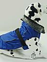 Chien Manteaux Rouge / Bleu / Noir Vetements pour Chien Hiver Couleur Pleine Etanche / Garder au chaud