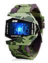 Da uomo Orologio militare Digitale LED / LCD / Calendario / Cronografo / Resistente all\acqua / allarme Silicone Banda Orologio da polso