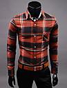 de v-shirt minceur coton a manches longues de la mode (rouge)