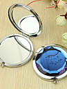 Personlig gåva blommönster Chrome Compact Mirror
