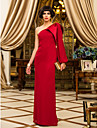 TS Couture Formal Evening / Military Ball Dress - Ruby Plus Sizes / Petite Sheath/Column One Shoulder Floor-length Chiffon