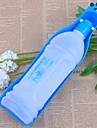 Hund Skålar & Vattenflaskor Husdjur Skålar och matning Bärbar Röd Blå Plast