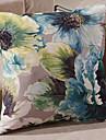 Polyester Coussin avec rembourrage , Floral Moderne/Contemporain