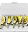 5pcs reutilisables formes d\'art d\'ongle en metal dore pour acrylique et UV conseils de gel