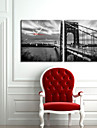 Golden Gate-bron Väggklocka i Canvas 2st