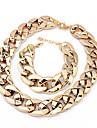Smycken Set Mode Europeisk Försilvrad Svart Silver Brun Dekorativa Halsband Armband FörParty Speciellt Tillfälle Födelsedag Förlovning