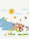 stickers muraux chambre d\'enfants d\'animaux fond chambre decoration murale affiche impermeable a l\'eau