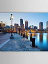 Sträckt Canvastryck konst Landskap USA städer Boston