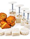 4 Bakning Miljövänlig Tårta Rostfritt Stål Bakningsformar