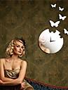 "22""H Modern Style Butterfly Mirror Wall Clock"