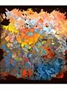 Hand geschilderd olieverfschilderij Abstract Color met gestrekte kader
