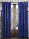 modernes deux panneaux de vie solide chambre Royal rideaux bleus opaques
