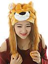 kigurumi Pyjamas Lion Collant/Combinaison Fete / Celebration Pyjamas Animale Halloween Imprime Fausse Fourrure Kigurumi Pour Unisexe