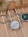 Personalized Compass Keychain - Set of 6