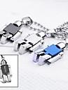 Personlig gåva smycken Robot Shaped Graverad hängande halsband med 60cm Kedja