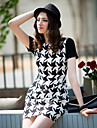 TS Simplicity Houndstooth Short Sleeve Dress