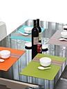 Mode Enkelt Style Assorted Color Randig Tablett för middag, L45cm x B 30cm, Värmebeständig PVC