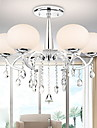 SL® Modern Elegant 6 Light Chandelier with Global Shade