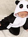 Kigurumi Pyjamas Panda Leotard/Onesie Halloween Animal Sovplagg Vit / svart Lappverk Flanell Kigurumi Barn Halloween / Karnival