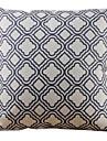 gitter bomull / linne beige dekorativa örngott