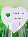 """Place Cards and Holders """"Heart in Heart"""" Place Cards for Wine Glass - Set of 12"""