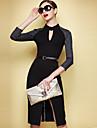 CoCo Zhang femei New Style Sexy 3/4 Sleeve Elegant Dress
