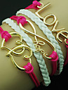 Bracelet Bracelets Wrap Cuir Amour Soiree / Quotidien Bijoux Cadeau Rouge Rose