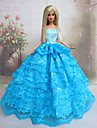 Princesse Robes Pour Poupee Barbie Bleu Robes Pour Fille de Doll Toy