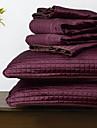 huani® täcke set, 3 st pläd aubergine polyester
