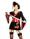 Sexy Samurai Svart Polyester kvinnors Halloween Party Kostym