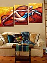 Stretched Canvas Art The Abstract Character Set of 3