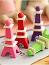 Gomme amovible Tour Eiffel en forme (couleur aleatoire)