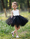 Ball Gown Short/Mini Flower Girl Dress - Satin/Tulle Sleeveless