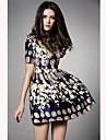 TS Vintage Floral Print Swing Dress