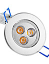 3W Verzonken lampen / Plafondlampen Verzonken ombouw 3 Krachtige LED 250 lm Warm wit AC 85-265 V