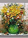 Peint a la main A fleurs/Botanique Un Panneau Toile Peinture a l\'huile Hang-peint For Decoration d\'interieur