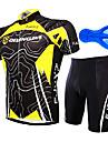 FJQXZ® Cykeltröja med shorts Herr Kort ärm CykelAndningsfunktion / Snabb tork / Anatomisk design / Ultraviolet Resistant / Bärbar /