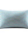 Blue Geometric Bomull / Lin Decorrative Kuddfodral