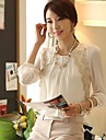 Women\'s Lace Embroidered Chiffon Casual Blouse