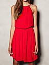 solid rochie de curea de culoare femeilor