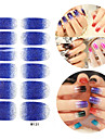 28PCS Glitter Gradient Ramp Nail Art Stickers M Series NO.131