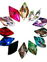 24PCS Mixs Glitter couleur Rhombus strass Nail Art Decorations