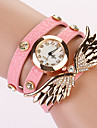Koshi 2014 Kvinnors Angel Wing 3Round Diamonade Watch (ROSA)