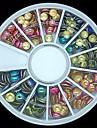 180pcs blandade färg och storlek 3d sten rund metallreglar hjul nail art dekoration