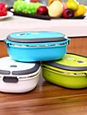1 Pcs Kitchen Easy Open / For Kids / Large Capacity / For Adults / Food Container Stainless Steel Lunch Box 21x15x6.5cm(8.25x5.9x2.55″)