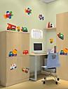 Createforlife ® Cartoon Flygplan Truck Transport Kids Nursery Room Wall Sticker Wall Art dekaler