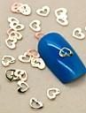 200st härlig ihåliga hjärta form skiva metall nagel konst dekoration