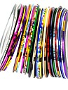 30pcs couleurs melangees rouleaux ligne de striping tape autocollant nail art decoration