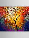 iarts®hand målad oljemålning landskap kniv träd konst med sträckt ram